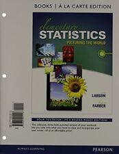 Elementary Statistics Books a la carte Plus NEW MyStatLab   (6th Edition)