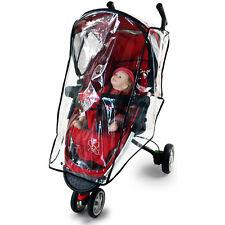 Transparent Baby Kid Buggy Pushchair Stroller Pram Rain Cover PVC Doll Protector