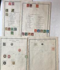 Schweiz - frühe  Sammlung ab 1880 mit 40 Marken - s.Bilder