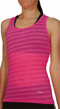 More Mile Breathe Womens Training Vest Pink Ultra Lightweight Seamless Tank Top