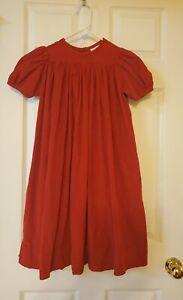 Strasburg Heirloom Collection Girls's Red Corduroy Dress Size 6
