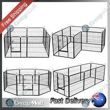 Pet Exercise Playpen 8 Panel Enclosure for Cat Dog Poultry Cage Heavy Duty Panel