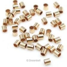 100x 14k Gold Filled Crimp Beads 1.1x1mm Tube 1mm