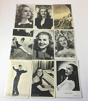 Lot of 9 Vintage DEANNA DURBIN Postcards