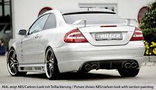 Rieger Heckansatz im Carbon-Look für Mercedes Benz CLK W209 Coupe/ Cabrio