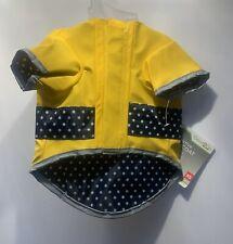 Good 2 Go Yellow Reflective Dog Raincoat - New - Sz - XS