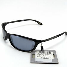Sunglasses Polarized Foster Grant Black Frame Black Oval Lens Driving UV400