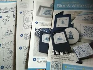 CROSS STITCH CHART DESIGN LIBRARY 33  BLUE & WHITE IDEA/MOTIF CHARTS ONLY