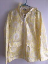 Topshop Yellow Flower Raincoat Mac Jacket Yellow Lace waterproof Sz 6