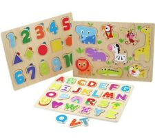 Chad Valley PlaySmart 3 Pack Wooden Puzzles (Brand New)