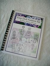 Four Paper Doll Fashion Set by Missy ~ Printed & Ready To Color