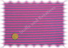 Campan Jersey pink petrol 50 cm Hilco Streifenjersey Streifenstoff Meterware