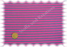 Campan jersey rosa petrolio 50 cm Hilco strisce Jersey Strisce Tessuto a metraggio