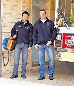 Firefighter EMS Quarter Zip Work Shirt Personalized FREE