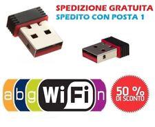 ANTENNA NANO MINI USB WIRELESS WIFI CHIAVETTA WI-FI PENNA 150n Mbps ADATTATORE