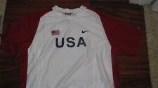 Nike usa olympic track field shirt White s/s  rare XL xc pro elite NEW singlet