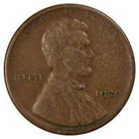 1920 S 1c Lincoln Wheat Cent Penny US Coin VG Very Good