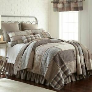 COUNTRY PRIMITIVE FARMHOUSE SMOKY COBBLESTONE QUILT COLLECTION DONNA SHARP
