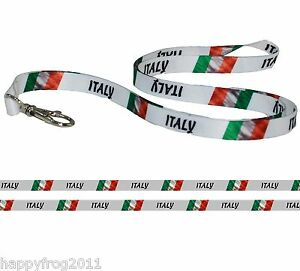 Satin ITALY FLAG LANYARD Neck Strap for Mobile Ipod ID Conference Pass Badge