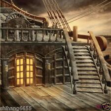 8x8FT Pirate Ship Vinyl Photography Backdrop Background Studio Photo Props ZZ147