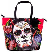 Iron Fist Large Black Rosarita Tote Handbag (Goth,Skull,Punk)