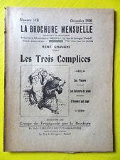 Anarchie La Brochure Mensuelle 24 B 1924 René Chaughi Les Trois Complices