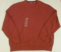 Izod NEW Mens Paprika V-Neck Cotton Fine Gauge Sweater Golf NWT $55 XXL