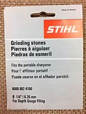 "STIHL GRINDING STONES  1/4"" for depth gauge filing  0000 882 4100 3-PK OEM (1E7)"