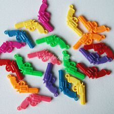 20 Gun Charms for Pony Bead kandi Raver Rave Craft Scout Bubblegum jewelry Favor