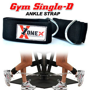 Gym Ankle Foot Multi Cable Attachment Pulley Machine Weight Lifting Fitness Cuff