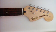 Loaded Fender Squier Stratocaster Neck Tuners 70's Style Headstock Strat Guitar