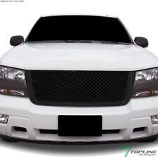 Topline For 2006-2009 Chevy Trailblazer LT Mesh Front Hood Bumper Grille - Black