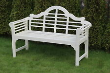 Lutyen inspired solid hardwood garden bench