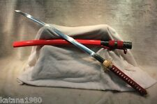 "40.6"" Ketsubetsu Japanese T10 Differential Hardened Katana Sword + Bag"