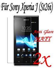 2x anti glare protector de pantalla mate para Sony Xperia J (st26i) película protectora