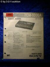 Sony Service Manual TCM 1000A Cassette Corder (#0292)