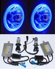 55W HID Headlight BLUE LED Halo for Toyota Landcruiser 40 60 75 78 79 series