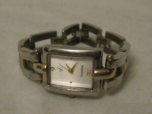 Fossil F2 wristwatch watch ladies time ES-8924 300010 pre-owned women's