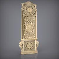 (854) STL Model Clock for CNC Router 3D Printer  Artcam Aspire Bas Relief