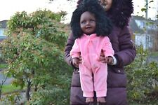 "GIANT HEAVY LARGE 20"" BLACK AFRICAN DOLL BABY ABIGAIL GIRLS DOLL 51CM AFRO DOLL"