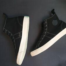 PF FLYERS X THE HUNDREDS Mens SZ 8  Black Fabric Skate Shoes RARE!!