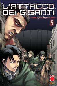 Planet Manga - L'Attacco dei Giganti 5 - Ristampa - Nuovo !!