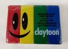 Claytoon Modeling Clay ~ Never Hardens ~ Sealed ~ PRIMARY COLOR Pack of 4 ~ 1lb