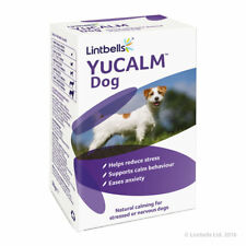 Lintbells YuCalm yucalm Calming Stress Tablets Dog Fireworks Anxiety 60 Tablets
