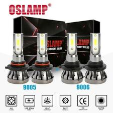 MINI 9005 + 9006 Combo LED Headlight Kit 3000W 450000LM Hi-Low Beam Bulbs 6000K