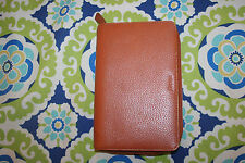 Filofax Personal Finsbury Zip Organizer Brown Leather Planner