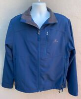 Fossa Lexus Logo Mens Long Sleeve Full Zip Jacket Coat Blue Polyester Spandex M