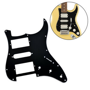 3 Ply Guitar Pickguard HSH Pickup For Fender strat Replacement Black