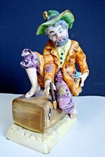 Capodimonte Figure Old tramp sitting on a chest