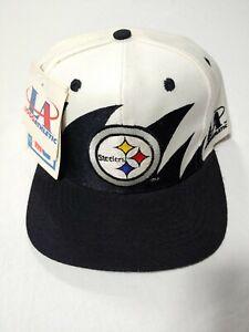 VTG Pittsburgh Steelers Logo Athletic Sharktooth Men Snapback Hat DEADSTOCK NEW